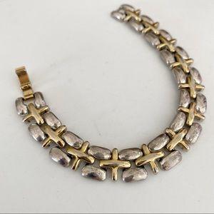 🎉5/20 SALE🎉vintage Liz Claiborne 2-tone bracelet